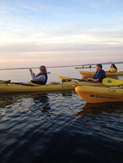 Our National Parks 187 Kayakers Enjoy Scenery Sunset Off Coast