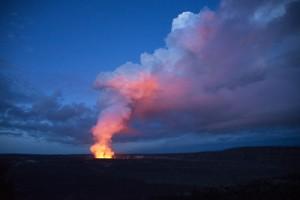 The Halema'uma'u volcano