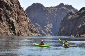 Kayaking in the Black Canyon at Lake Mead National Recreation Area (NPS Photo by Christie Vanover)