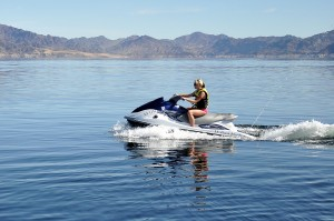 Personal watercraft are often seen at Lake Mead National Recreation Area (NPS Photo by Christie Vanover)
